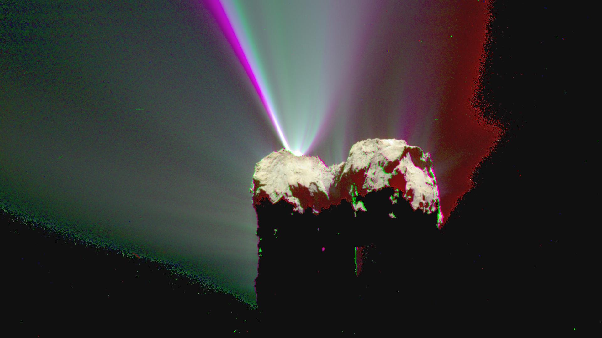 comète 67/P étudiée par Rosetta au LESIA