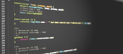 Développement d'applications : code internet coloré