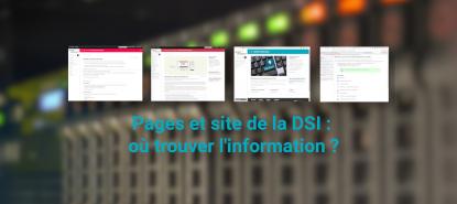 illustration Pages et site de la DSI - où trouver l'information